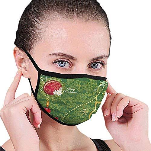 Preisvergleich Produktbild Weihnachtsdekoration Kerzenmuster Design Halbgesichts-Mundmaske Gesichtsmasken Anti-Staub-Gesichts- und Nasenabdeckung Coole weiche Winddichte Ski-Mundmaske