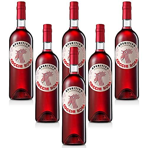 Vino Rosè Aromatizzato Americano Cocchi Rosa Cocktail Aperitivo (6 bottiglie 75 cl.)