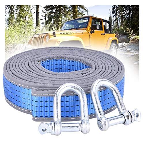 TOWROPE PLUS Auto Tow Strap, Tow Band 10 Tonnen (22.046 lbs), Abschleppseil Heavy Duty 4x4, mit 2 Sicherheitshaken, 4m / 5m optional (Size : 5m/10t)