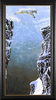 Faith Patrick Lundquist Leaping Mountain Goat Gallery Quality Framed Print Pictures 18.5x41