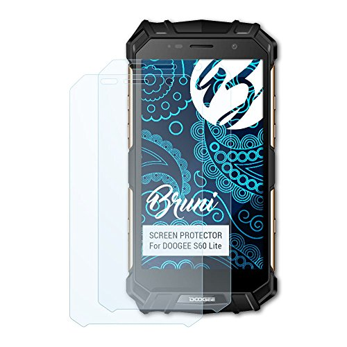 Bruni Schutzfolie kompatibel mit DOOGEE S60 Lite Folie, glasklare Bildschirmschutzfolie (2X)