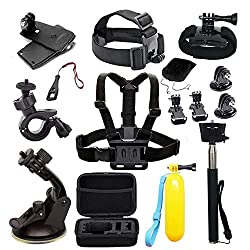 ▶ A cornucopia of action camera accessories. A MUST KIT for your GoPro Hero 8/7 GoPro Hero 6/5 / AKASO EK7000/ AKASO Brave 4/ AKASO V50/ Crosstour/ Victure/ Campark and most of action cameras. ▶ This accessories kit is suitable for everyone who is a ...