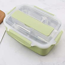 Quality Stainless Steel Lunch Box Containers With Compartments Portable Leakproof Bento Food Container With Tableware Green 3