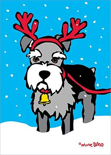 Nouvelles Images XDB 502 Holiday Boxed Note Card Set - Schnauzer Reindeer,...