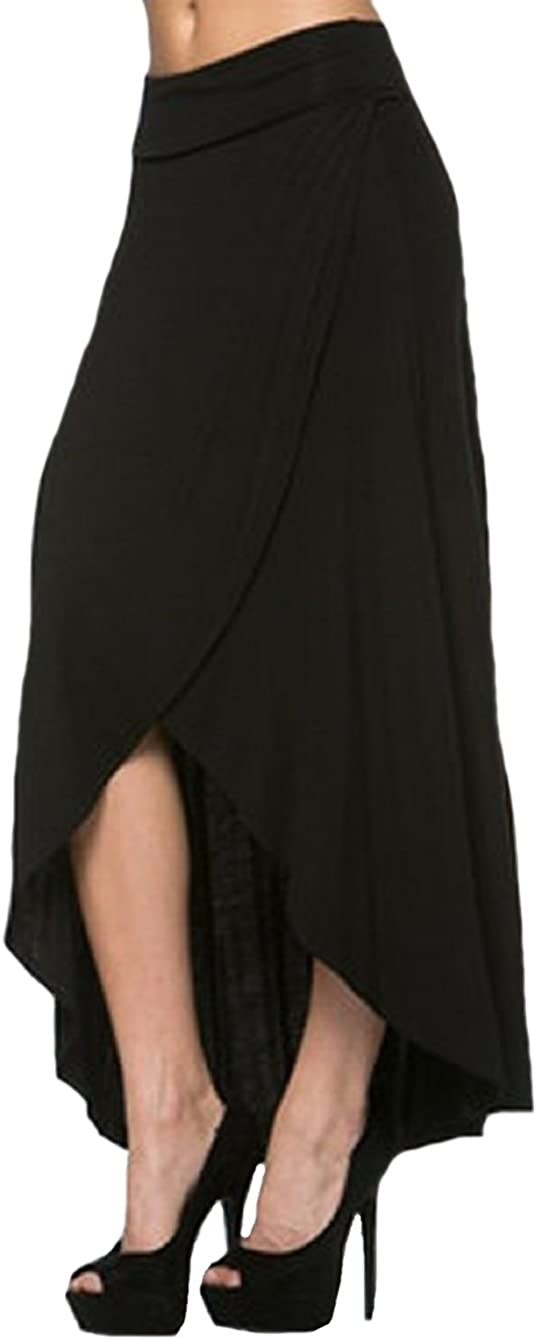S&S-women Asymmetrical-Hem Womens' Maxi Skirt