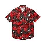 FULHAM Football Club Hula - Camiseta de fútbol, color negro y rojo, Medium, Negro/Rojo