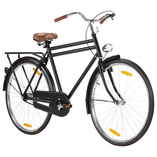 Kshzmoto Bicicleta Holandesa Classic Comfort Bicicleta de Ciudad Bicicleta con iluminación 28 Pulgadas Rueda 57 cm Marco Hombres