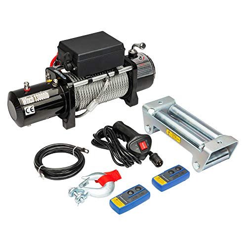 KABOCHO 13000lbs / 5909kg Electric Winch Kit 12 Volts Electric Winch for SUV, Truck, ATV, UTV with Wireless Remote and Corded Control Recovery
