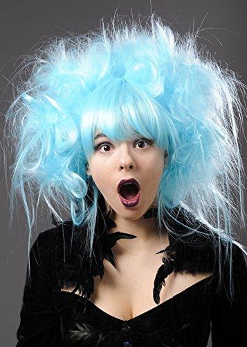 Perruque Zombie bleu Aqua luxe Womens Turquoise