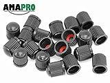 AMAPRO 20x Premium Ventilkappen für Auto, Motorrad und Fahrrad mit Dichtungsring   Ventildeckel   Autoventilkappen
