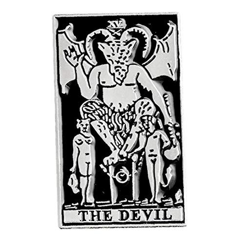 Aisoway El Esmalte Oscuro Pin Satanás Satanismo Demon Metal Punk Bruja Mal Pernos de la Broche de Esqueleto gótico