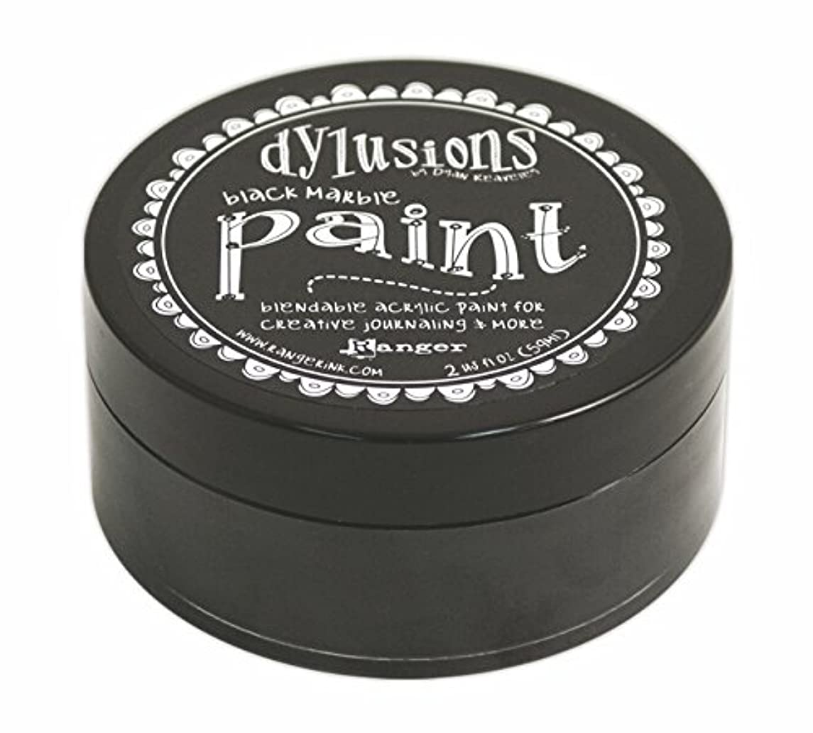 Ranger DYP-45946 Dyan Reaveley's Dylusions Paint, 2 oz, Black Marble
