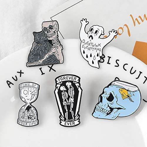 Enamel Pin Set Punk Revers Broche Koele Badge Skull Pin Voor Kleding Bag Jacket Rugzak Decoratie En Kerstmis Halloween in De Buurt Van De Gift