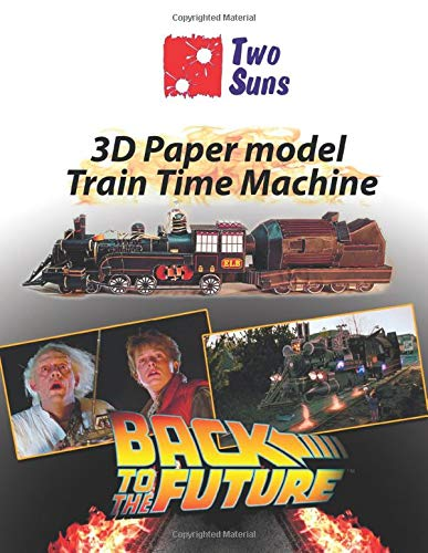 3D Paper Model Train Time Machine: how to build Train Time Machine