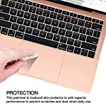 Palm Rest Cover Skin and Trackpad Protector Compatible with 2019 2018 MacBook Air 13-Inch Model A1932 with Touch Id… 11 Specially Design For 2016 2017 2018 2019 Released MacBook Pro 15 with touch bar model A1707 A1990 Prevent your new MacBook to avoid scratches by watch, buckles, jewelry and other metal objects Airflow Design, easy to uase with no bubble, renew the worn-out palm rest, It's a great way to update your worn-out palm rest with a different fresh new look