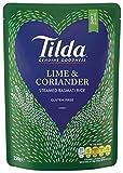 Tilda - Arroz basmati al vapor con lima y cilantro - 250 g - Pack de 6 unidades