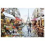 VHNBVHGKGHJ Arquitecturas Mini Rompecabezas Rompecabezas de imágenes Juguetes educativos Regalos Multicolor Bajo la Torre Eiffel