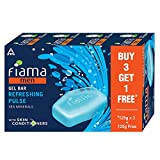 Fiama Men Refreshing Pulse Gel Bar, with Sea Minerals, with skin conditioners - 125g (Buy 3 Get 1...