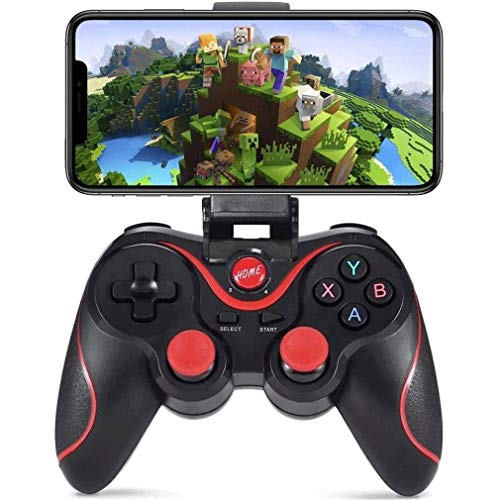 Xjdmg Mobile Gamepad USB-Gaming-Controller Gamepad PC/Laptop-Computer iOS 11+ oder Android 5.0+ Version Mehr Schießen Kampf Racing Game (Color : Black)