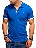 JACK & JONES Polo para Hombre Camiseta Camisa Manga Corta Unicolor (3XL, Tap Shoe/Classic Blue)