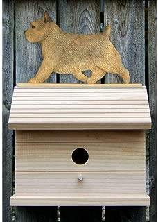 Michael Park Grizzle Norwich Terrier Bird House