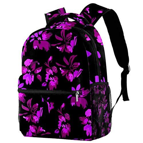 Mochila con diseño de mariposas rosas, mochila escolar, bolsa de libro, mochila casual para viajes, estampado 7 (Multicolor) - bbackpacks004