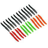 RAYCorp Rainbow Pack 5030 5x3 Propellers. 24 Pieces(12 CW, 12 CCW) -12 Black, 4 Orange, 4 Red, 4 Green - Genuine & 5-inch Quadcopter and Multirotor Props + Battery Strap