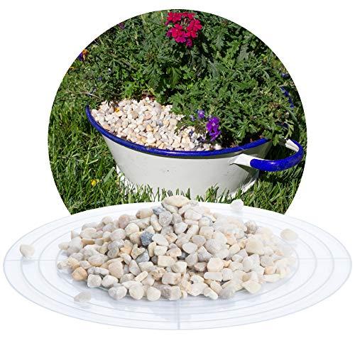 Schicker Mineral Quarz Zierkies 25 kg Beiger Kies natürlich gerundet in den Größen 5,6-8,0 mm und 8,0-16,0 mm, ideal zur Gartengestaltung (Quarz Zierkies, 5,6-8,0 mm)