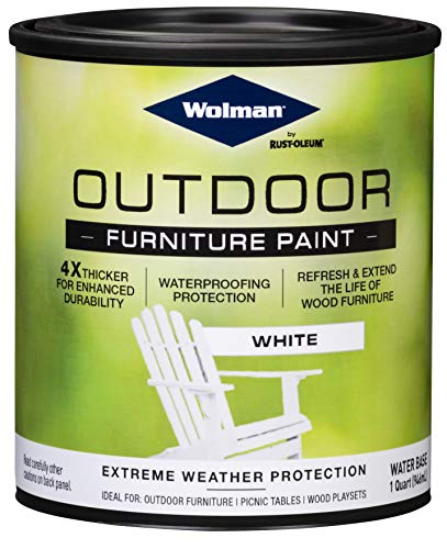 Wolman 360352 Outdoor Furniture Paint, 32 Fl Oz (Pack of 1), White