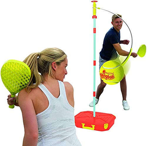 teather ball rules Swingball Mookie Classic Tetherball Set - Portable Tetherball, Blue/Red, One Size