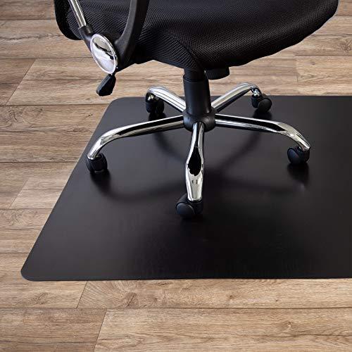 Bodenschutzmatte für Hartböden | Bürostuhlunterlage Bodenmatte Stuhlunterlage | Schwarz | aus Polypropylen | Stärke: 1,9 mm | in 3 Größen erhältlich (90 x 120 cm)