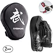 Overmont Double Kicking Target Taekwondo Kick Pads TKD Training Karate Kickboxing Judo Practice MMA Muay Thai Martial Arts Black/red