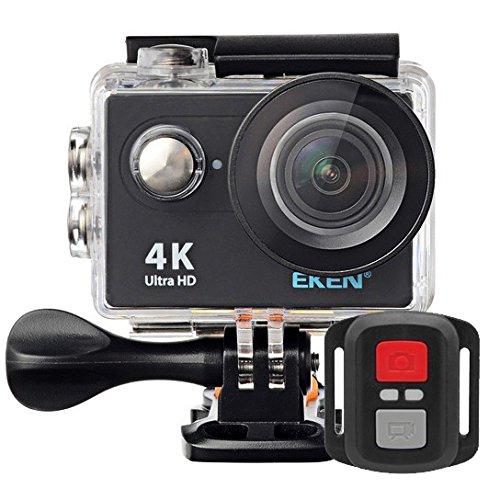 Câmera Filmadora Eken H9R Full HD 4K 12MP, Tela LCD 2' - PRETA