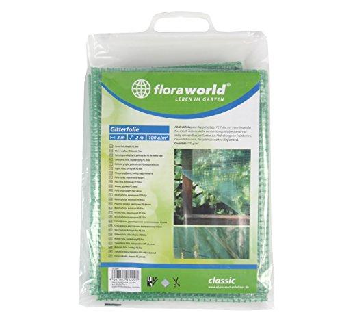 Floraworld 012060 Gitterfolie Classic, Transparent, 300 x 200 x 48 cm