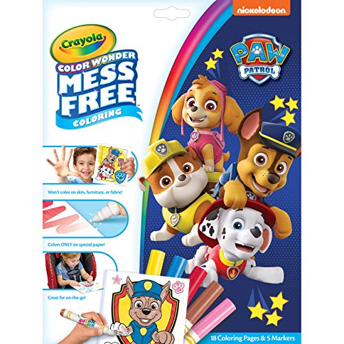 Crayola Paw Patrol Color Wonder, Mess Free Coloring Pages & Markers, Toddler Stocking Stuffers