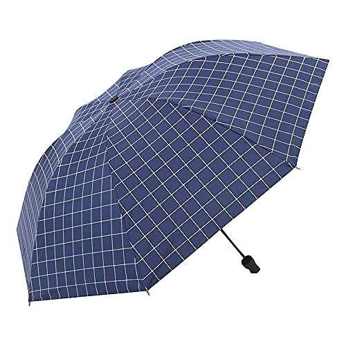 Mabor - Ombrello antivento da viaggio con protezione UV, compatto, pieghevole, per viaggi, pioggia, sole, mini ombrello portatile, leggero, pieghevole, per donne e uomini