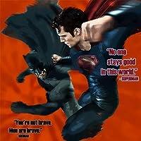映画 バットマン vs スーパーマン ジャスティスの誕生 壁掛けパネル ポップアートフレーム ファブリックパネル インテリア ポスター