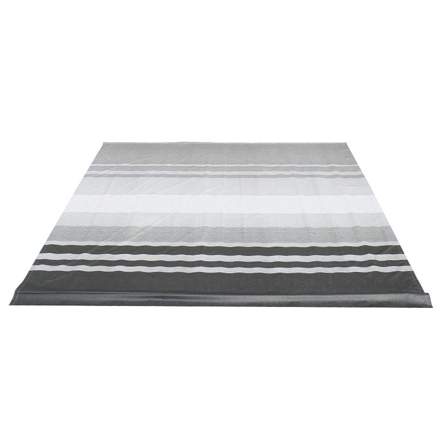 ALEKO RVFAB12X8BLKST33 RV Awning Fabric Replacement 12 x 8 Feet Black Striped