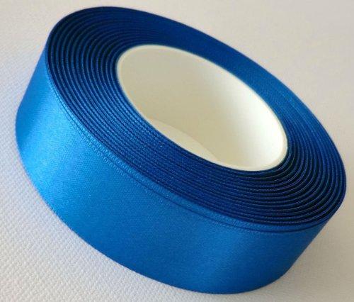 Ruban 25 m x 25 mm (1 m = 0,20EUR bleu roi bleu ruban bolduc ruban en sATIN bleu