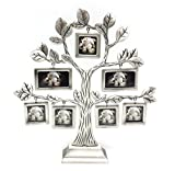 QTMY Metal Family Tree with 7 Hanging Picture Frames Collage Desk Stand Ornaments (Tree)