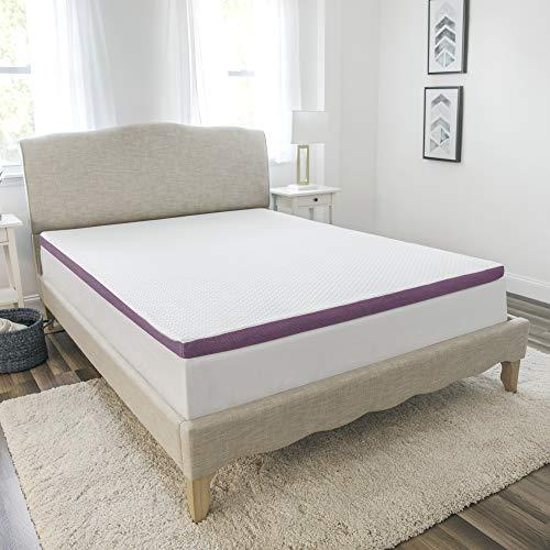SensorPEDIC 2-Inch Advanced Cool Transcend Memory Foam Bed Mattress Topper, King, White