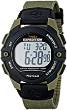 Timex Men's T49993 Expedition Full-Size Digital CAT Green/Black Mixed Material Strap Watch