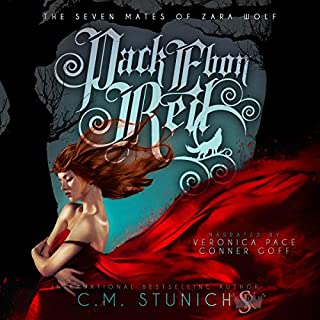 Pack Ebon Red     The Seven Mates of Zara Wolf, Book 1              By:                                                                                                                                 C.M. Stunich                               Narrated by:                                                                                                                                 Veronica Pace,                                                                                        Conner Goff                      Length: 7 hrs and 56 mins     4 ratings     Overall 5.0