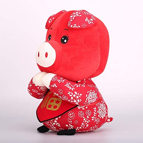 DONGER Zodiac Cochon Jouet Année De Mascotte Poupée Poupée Petit Cadeau, Xiangyun Cochon Grand, 30 Cm