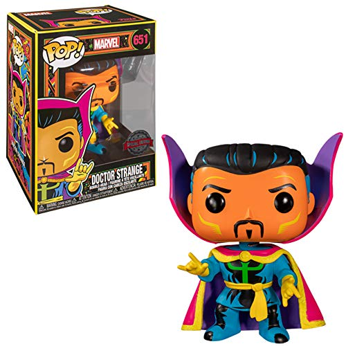 Funko- Pop Marvel Black Light Dr. Strange Juguete Coleccionable, Multicolor (48848)