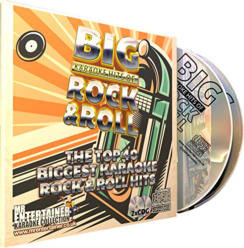 Mr Entertainer Big Karaoke Hits of Rock & Roll - Double CD+G (CDG) Pack