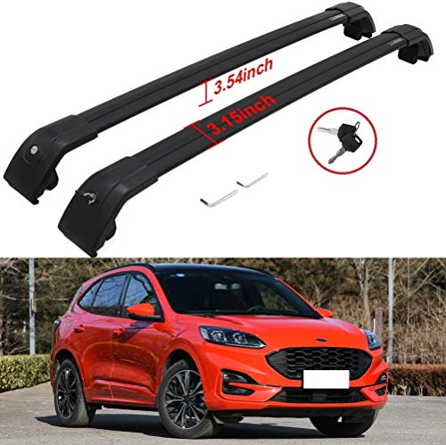 US roof bar for Ford Escape 2020 2021 Top Rail Roof Rack Cross Bars Luggage Cargo Carrier Lockable 2