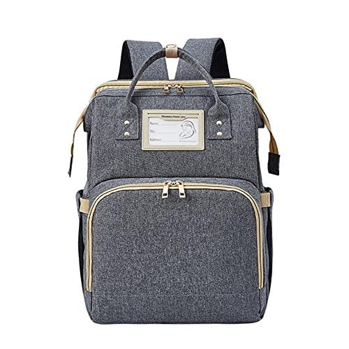 libelyef Bolsa de bebé portátil, plegable para cambiar pañales de gran capacidad, mochila para bebé