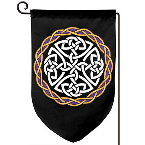 ZBGIGB Irish Shield Warrior Celtic Cross Knot Home Flag Outdoor Garden Flags Decorative 12.5x18 Inch Pattern Double-Sided Printing Banner