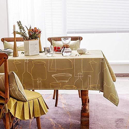 Creek Ywh tafelkleden tafelloper feesttafelkleed Noordse stijl tafelkleed katoen linnen salontafel ovaal tafelkleed modern minimalistische landelijke tv-kast tafelkleed, geel, 130 *